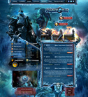 Дизайн сайта «Play-In-WoW» для сервера MMORPG игры World of Warcraft (WoW)